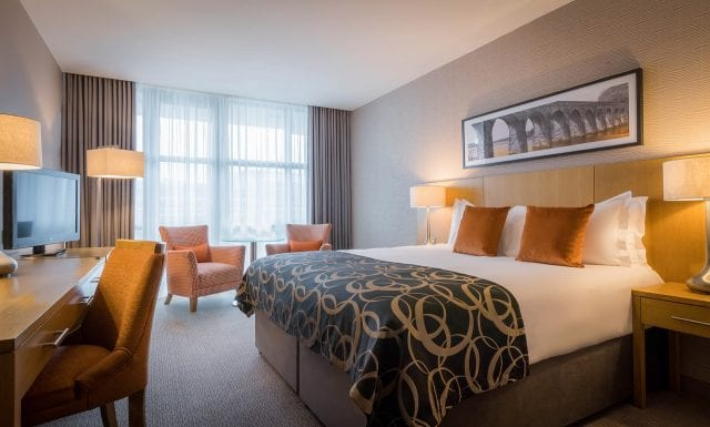An Accessible room at Clayton Hotel Belfast