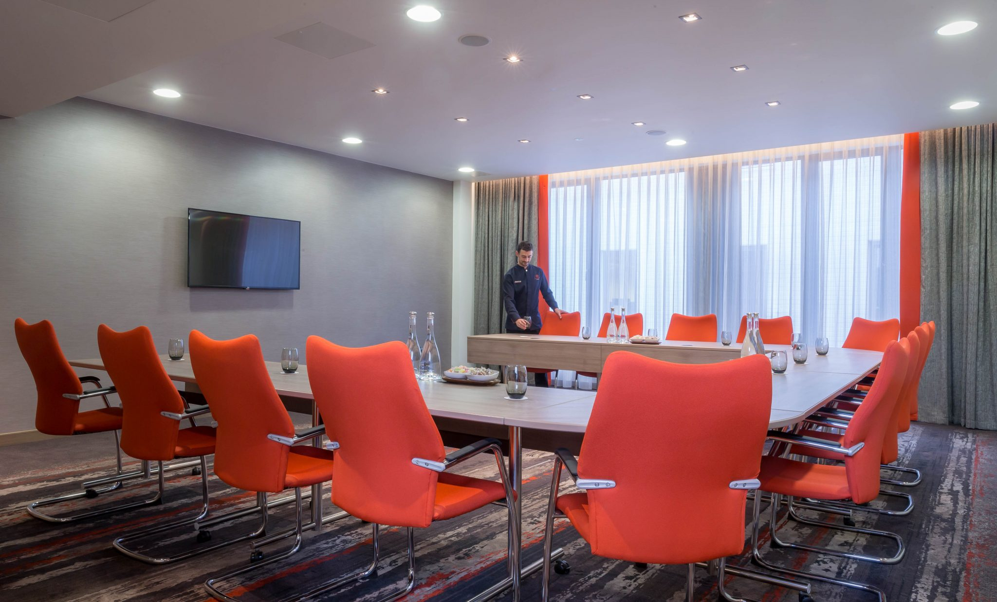 refurbished meeting room in Belfast